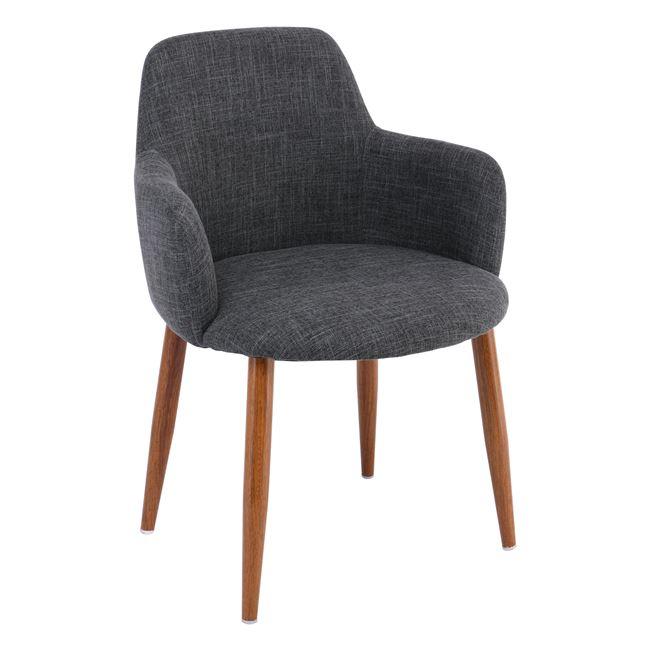 трапезарен стол SOUL с метални крака,орех