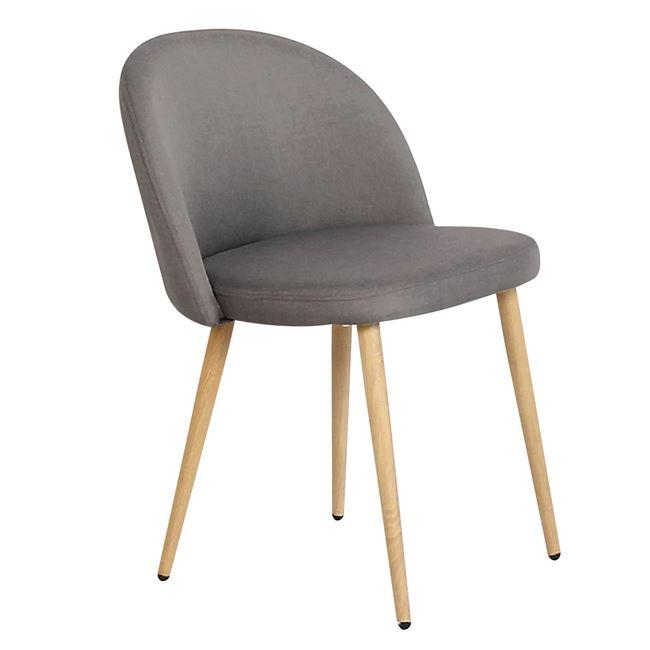 Тъмносив стол Bella с метални крака