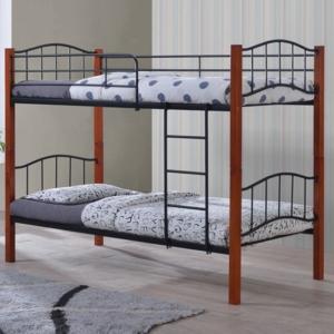 Двуетажно легло,метал,дърво ,Палома Е 8047
