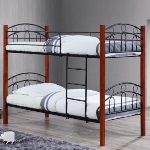 двуетажно,метално,черно легло В 8071