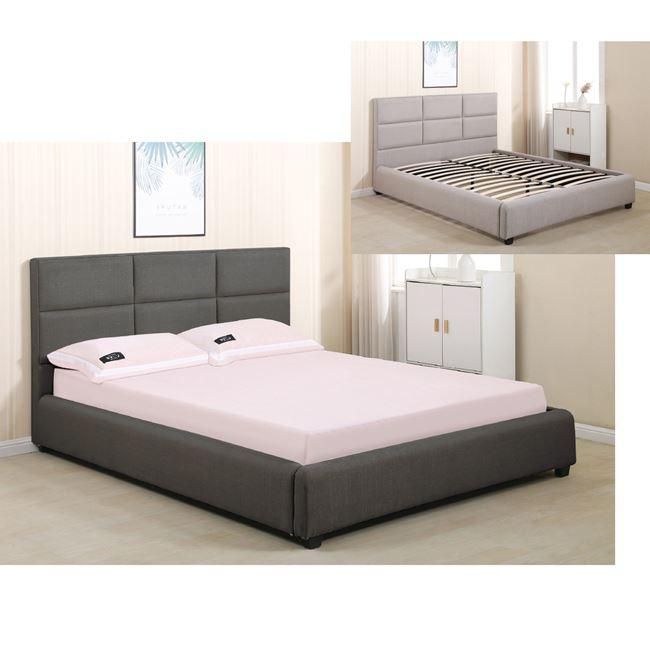Спалня с дамаска,памук,сива,Е 8099.1