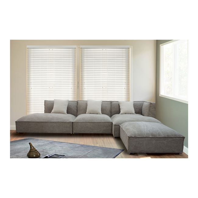 ъглов диван,дамаска,бежов,Е9644,1L