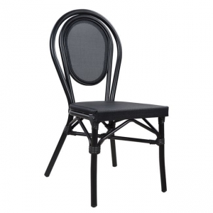 Алуминиев стол,черен,текстилен,НМ 5052