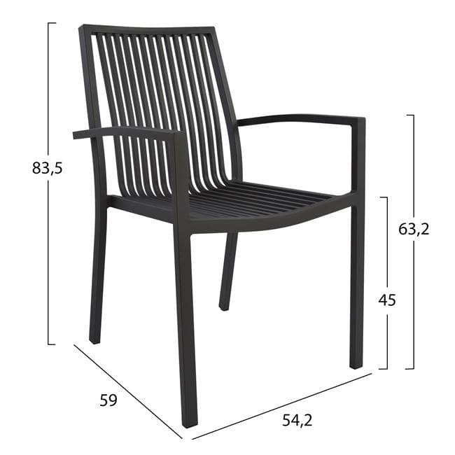Алуминиев стол,черен,метал,НМ 5130.02