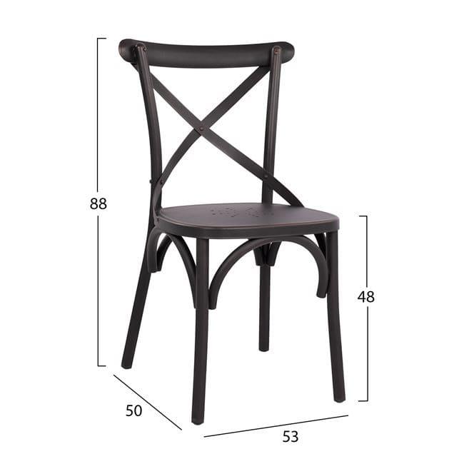 алуминиев стол,черен,виенски,НМ 5553.01