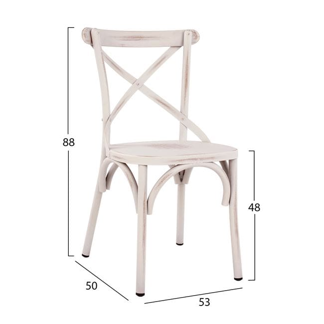 алуминиев стол,бял,виенски НМ 5553.02