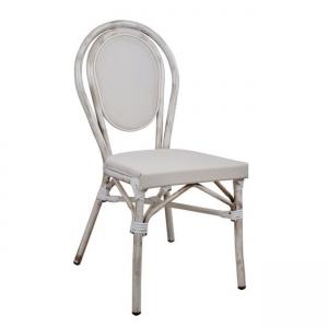 Алуминиев стол ,състарен,бял,НМ 5109