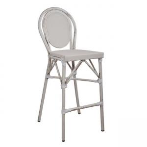 бар стол,алуминий,състарено бяло,НМ 5110