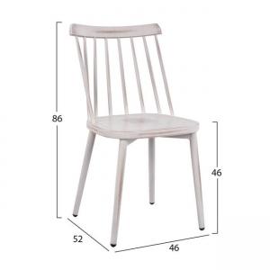 Алуминиев стол,бял,състарен,Нм 5556.02
