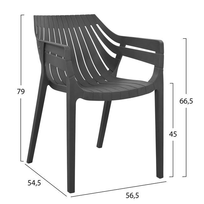 Стол ,сив,пластмасов,НМ5116.01