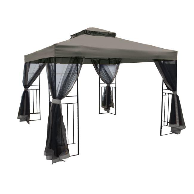 градинска шатра,Gazebo,сива