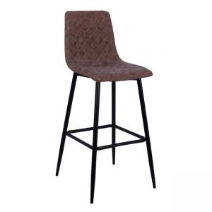 Бар стол ,метален,дамаска,