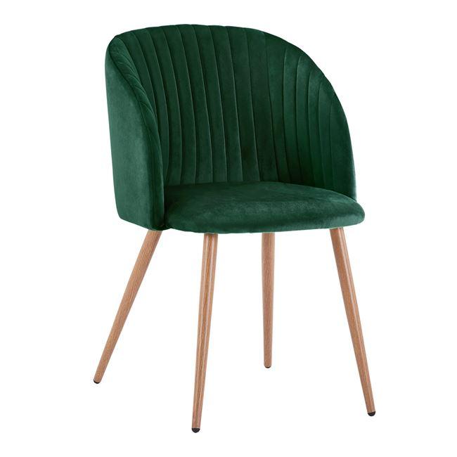 Трапезен стол,зелен,метален,НМ8543.03