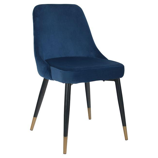 трапезен стол,син,дамаска,кадифе,Hm8527.08-min