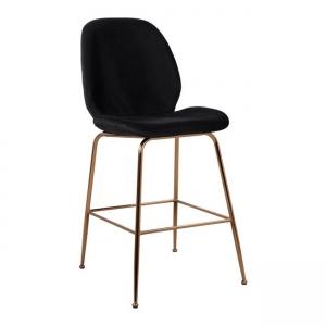 Бар стол,метален,златист,дамаска,HM8524 black