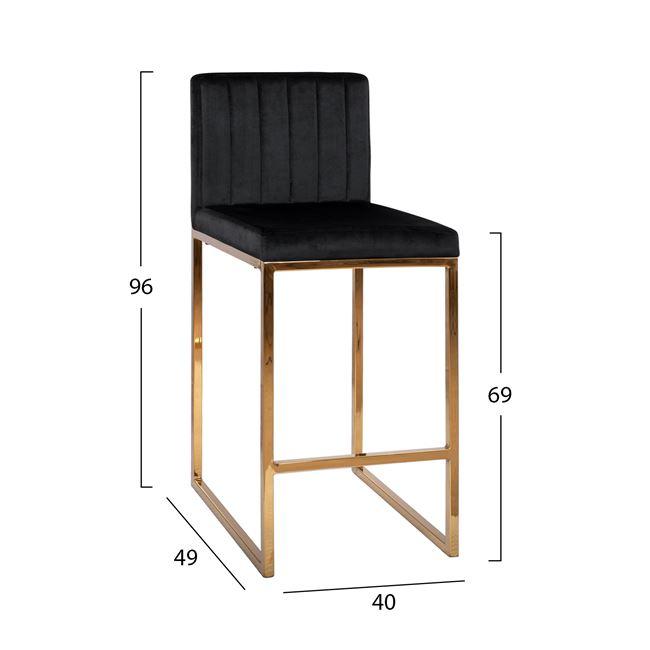 Бар стол НМ 8525 - черен