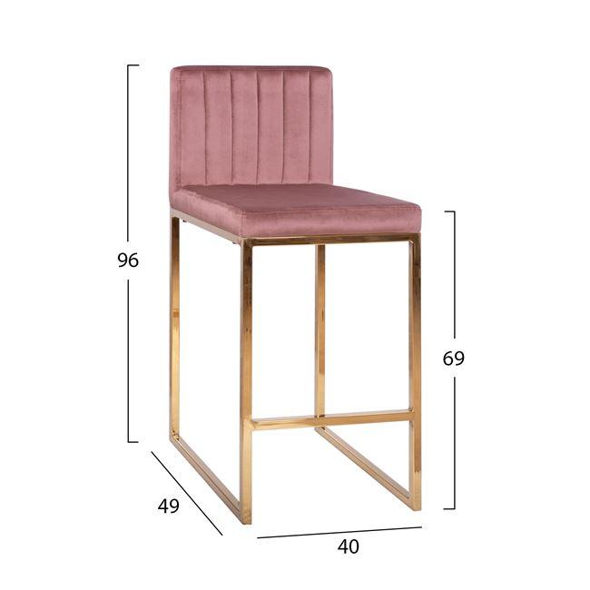 Бар стол НМ 8525 - пепел от рози