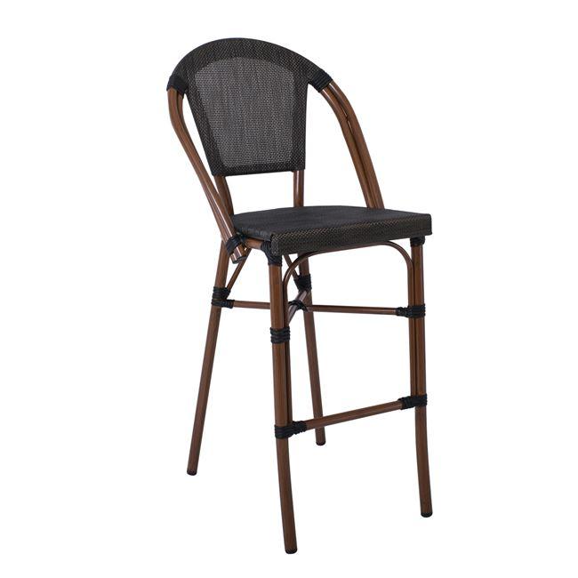 градински,алуминиев,кафяв стол,Е289,текстиленов.