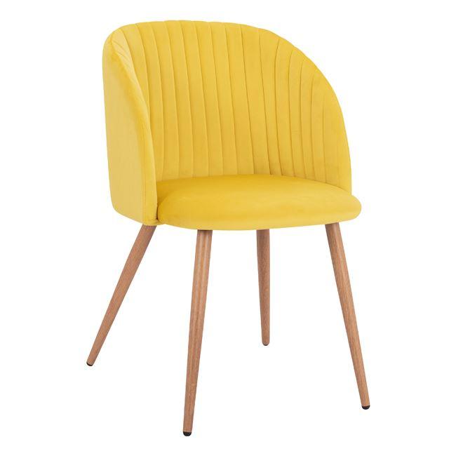 трапезен стол,жълт,метален,дамаска,Hm8543.11