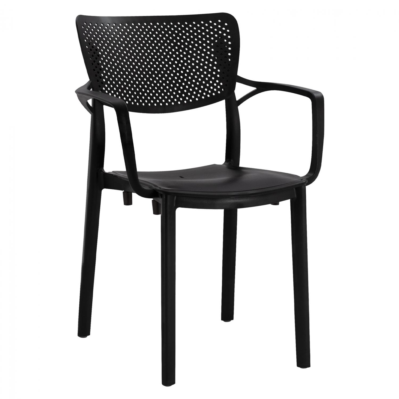 градински стол ,черен,полипропилен,