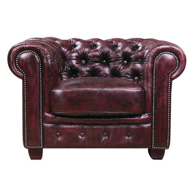 Честърфилд,кресло,бордо,кожаE9574,14