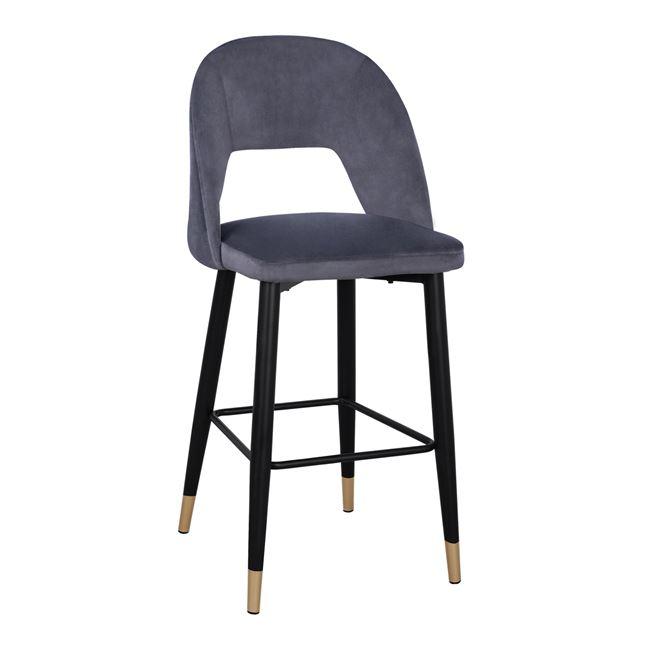 бар стол,метален,сив,HM8526.01